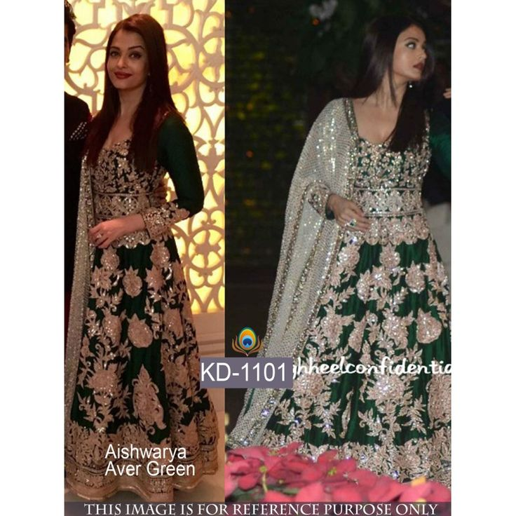 Aishwarya Rai Striking Anarkali Style Art Silk Semi-Stitched Gown at just Rs.3599/- on www.vendorvilla.com. Cash on Delivery, Easy Returns, Lowest Price.