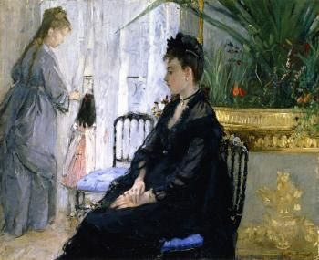 Interior 1872 - Berthe Morisot - (French: 1841 - 1895)