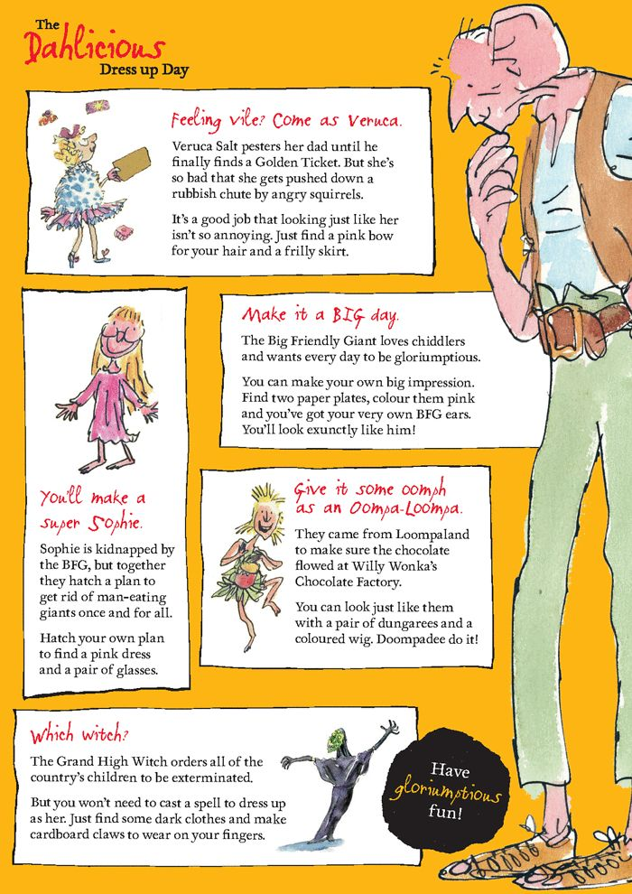 How to dress up as a Roald Dahl character - ideas and tips | Children's books | theguardian.com