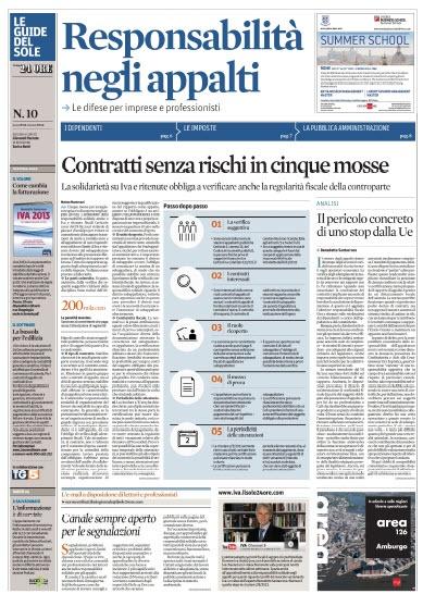 Le Guide del Sole 24 Ore - Responsabilitá negli appalti (25.03.2013)  Italian | PDF | 4 Pages | 5 MB