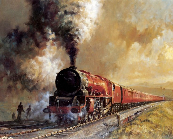 17 Best images about Trains on Pinterest   Watercolors ...