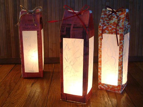 milk carton lantern2 by Shiho the Craft Guru, via Flickr