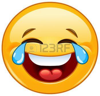 Lachende emoticon met tranen van vreugde photo