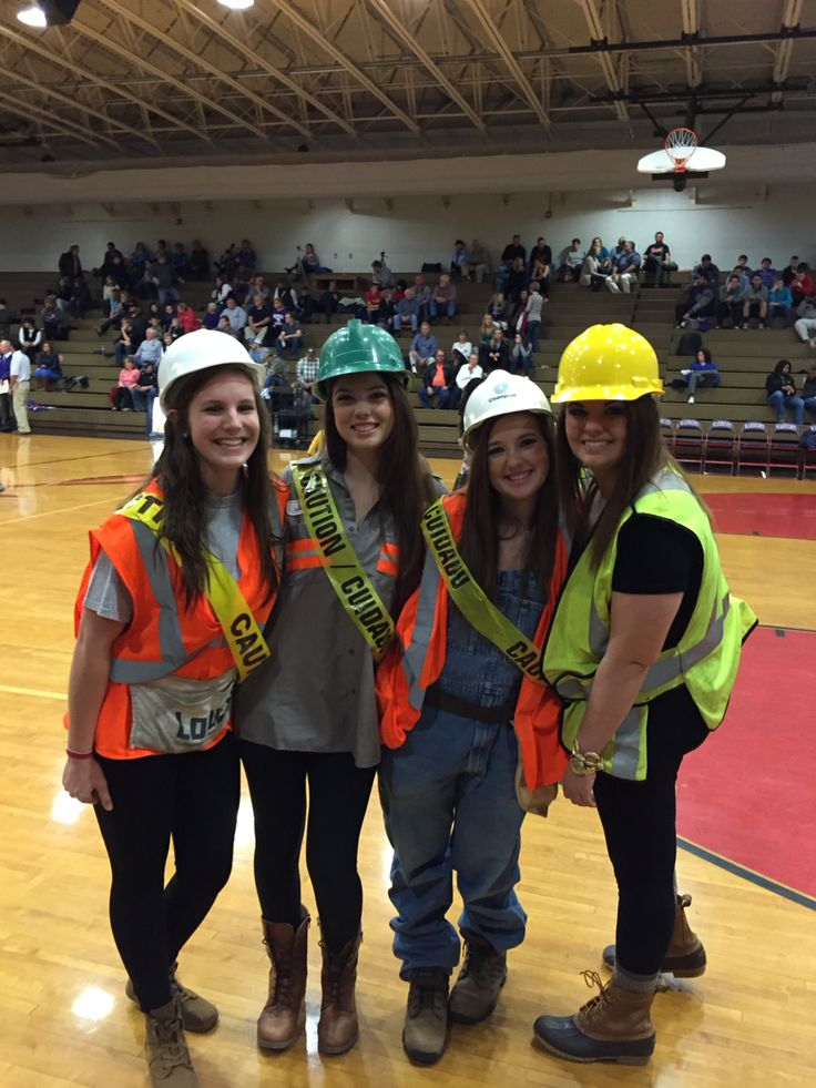 Construction worker student section theme!