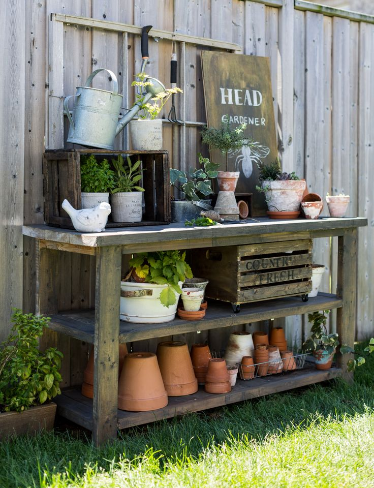 436 best potting benches images on pinterest vegetable garden