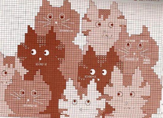 Орнаменты Для, Кошки Схемы,