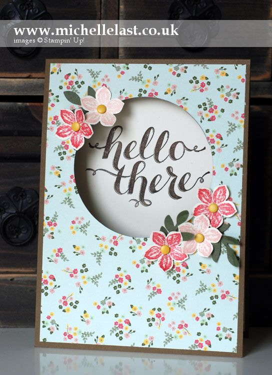 Sketch Challenge Card using Hello There from Stampin' Up! - Stampin' Up! Demonstrator Michelle Last