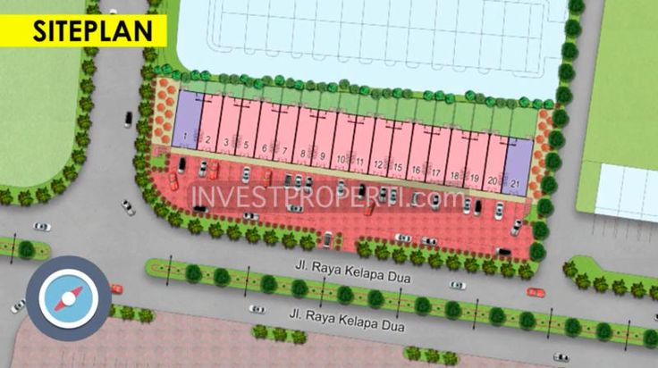 Site plan Ruko Arcadia Serpong
