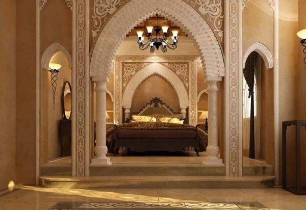 Арабский Оформление интерьера | Конструкции из гипсокартона в спальне ...