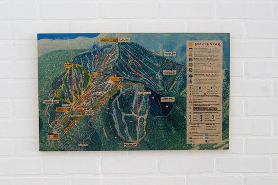 Northstar California Ski Resort Maple Wood Trail Map - Including Free Shipping