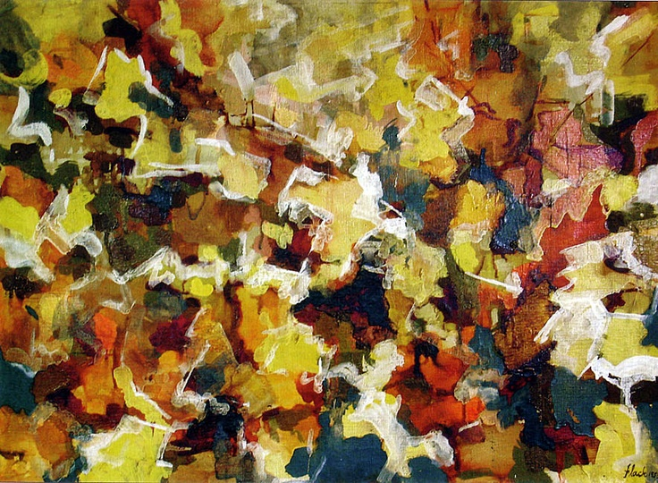 Abstract Expressionist Autumn Sky, 1953, Audrey Flack