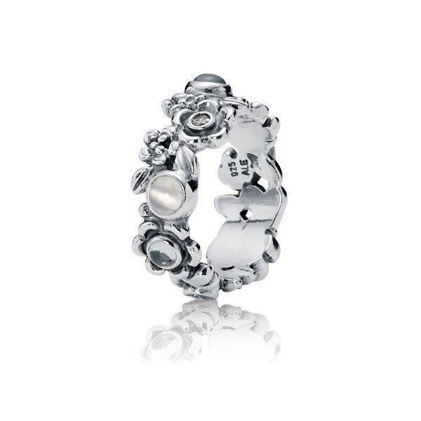 Pandora Women 925 Sterling Silver Silver Grey Moonstone OQ1sxLni09
