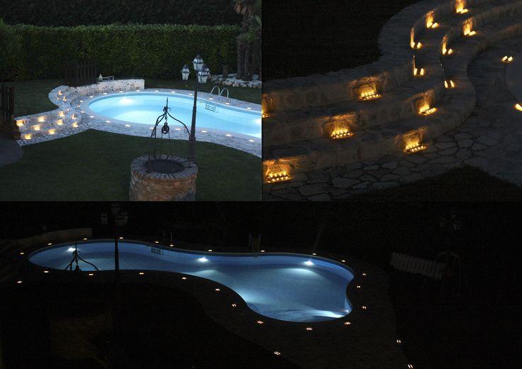 installazione geco - Antiscivolo e Impermeabili (Certificate IP68) sono perfette anche per bordi e interni piscina - http://gecoluce.it