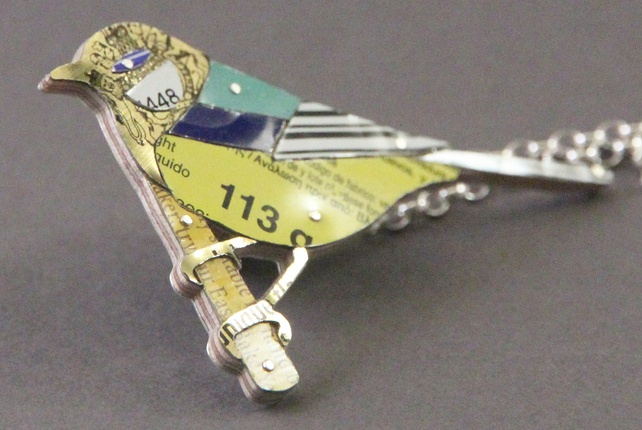 Great-Tit Tin Necklace - Sally Ayling