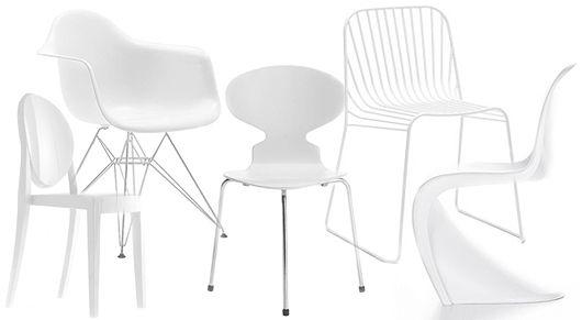 Snygga stolar för matbord och balkong