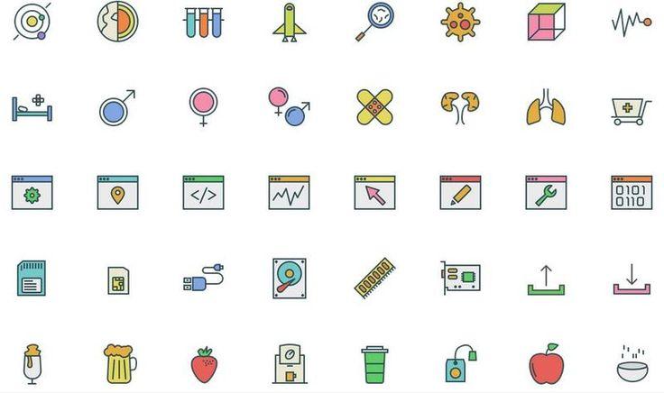 Swifticons es un pack de bonitos y variados iconos en tres estilos distintos (esbozo, relleno, coloreado) y tres formatos diferentes: EPS, PNG y SVG.