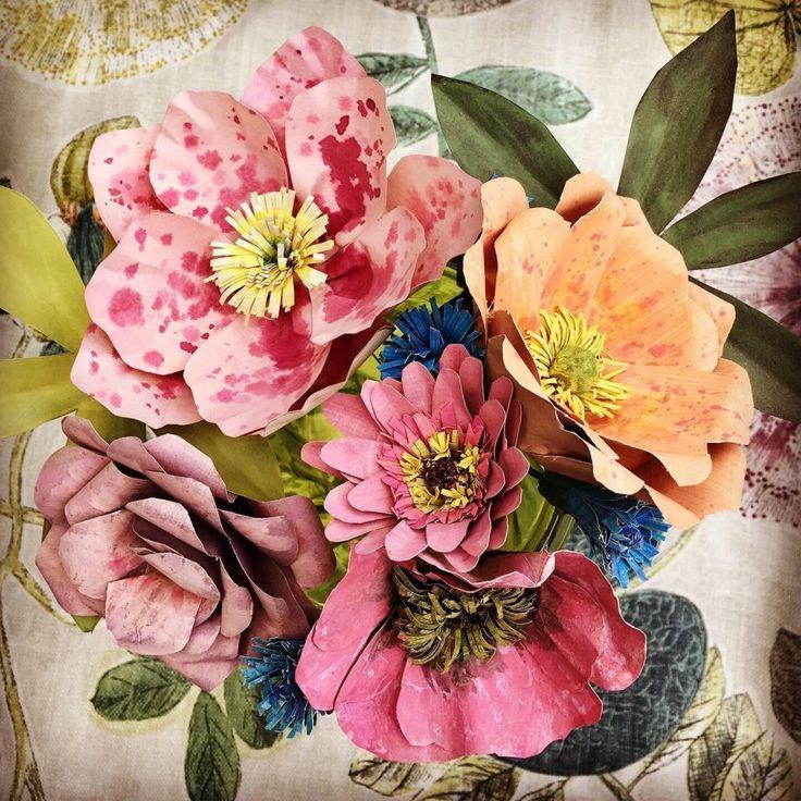 Demonstration of paper flower making by Corinne Yo…