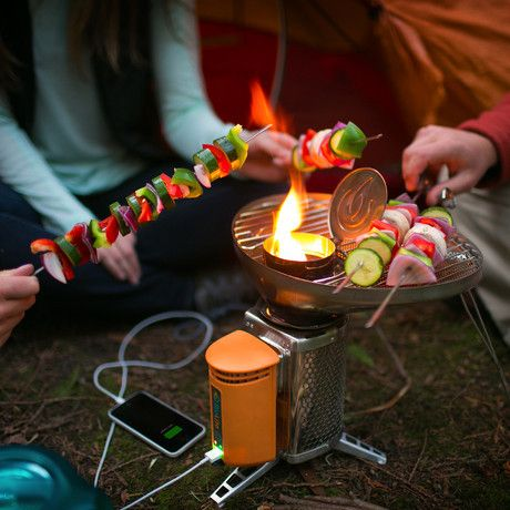 Biolite - Tech Camp Grill -- Portable Grill - charge your devices while you campfire -- perfect for Boondocking!  $99