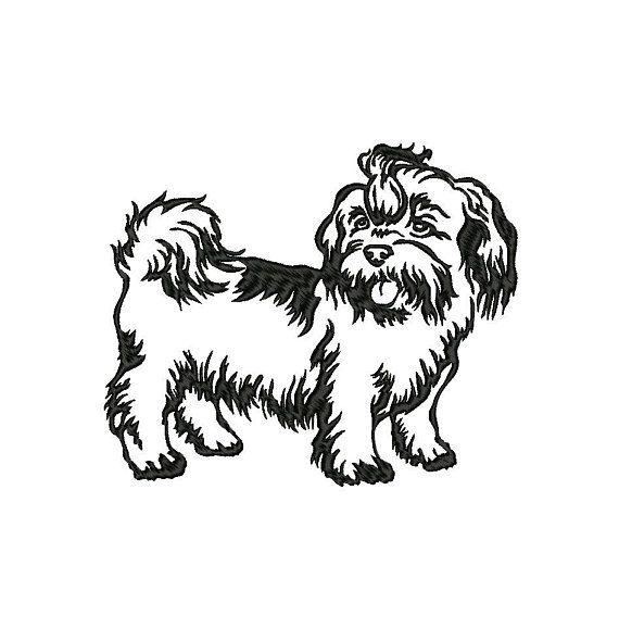 Shih Tzu Machine Embroidery Design Instant Download Etsy In 2021 Dog Breed Decal Lhasa Apso Shih Tzu Dog