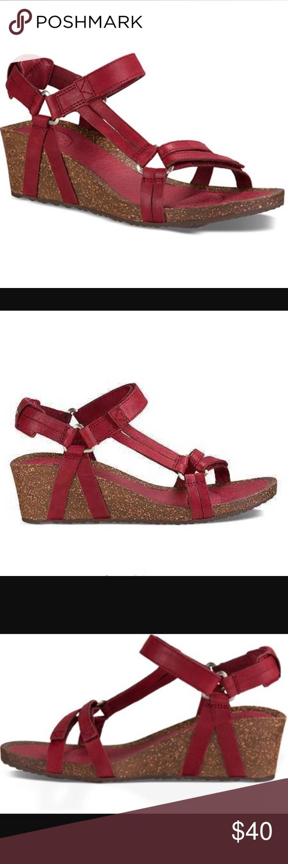 NEW TEVA YSIDRO UNIVERSAL WEDGE.Color:Fired Brick Model: 1015119 A sleek, feminine take on the iconic Universal, this light, comfortable wedge sandal features fully adjustable leather straps for the absolute perfect fit. Teva Shoes Wedges