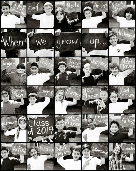 I think I will start doing this each year with the boys and see how this changes as they mature also, what A Great Idea For A Teacher To Do For A Class Photo-Op...