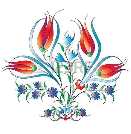 geleneksel Osmanlı motifleri model serisi ile oluşturulur photo
