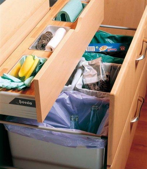 ideas reciclaje basura cocina organización