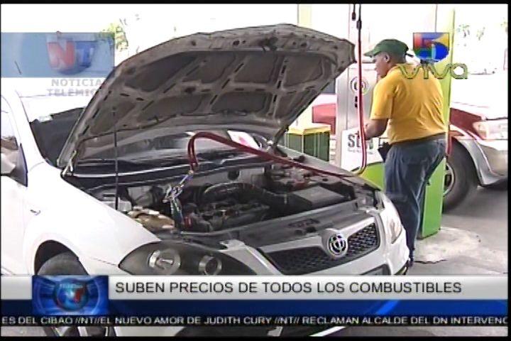 Suben Los Precios De Todos Los Combustibles
