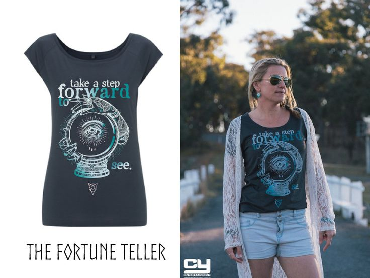 """I am finding more & more intuitive people in my life & the """"take a step forward"""" is the conscious choice to have this interaction with the spirit world.  It has taken me so long to be able to acknowledge this part of myself or to reveal this side to the world.  Yes, you can own this shirt!  Pre-orders welcome here:  https://pozible.com/project/launch-a-t-shirt-company"""