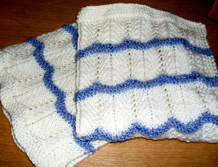 CHEVRON STITCH BABY BLANKET Knitting pattern available from http://www.crafts...