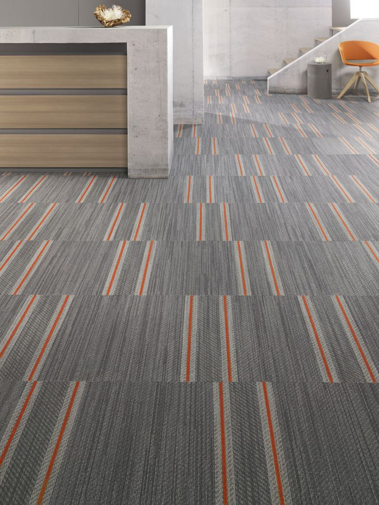 Mohawk Carpet Tile Denim S Pattern Selvedge Installed In