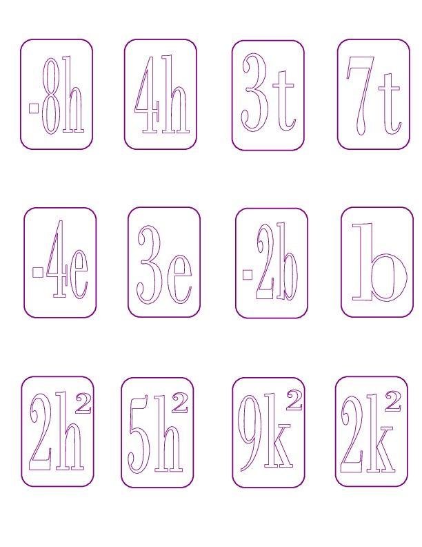 20 best Pre-Algebra Chapter 2 images on Pinterest   Combining like ...