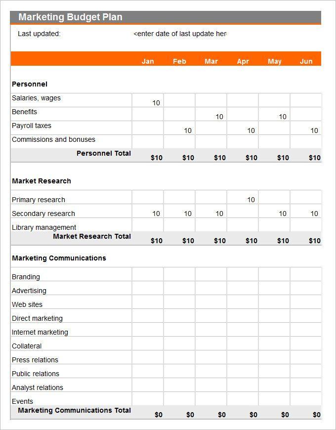21 Marketing Budget Templates Marketing Budget