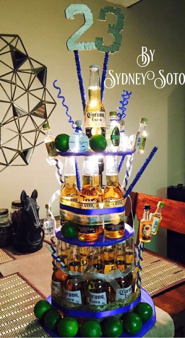 Pastel de cerveza ,Beer Cake,Corona , Coronas , beer Bottles , Botella , Botellas , ideas, Regalos para Hombres , Hombre , Regalo para Novio , Marido , Cumpleaños , Birthday , Fiesta , sorpresa, surprise, Gift for boyfriend , Gift for Husband , Gift for a Man, DIY , Tequila ,Tequilas , Easy , lemons , limones, Mexicano