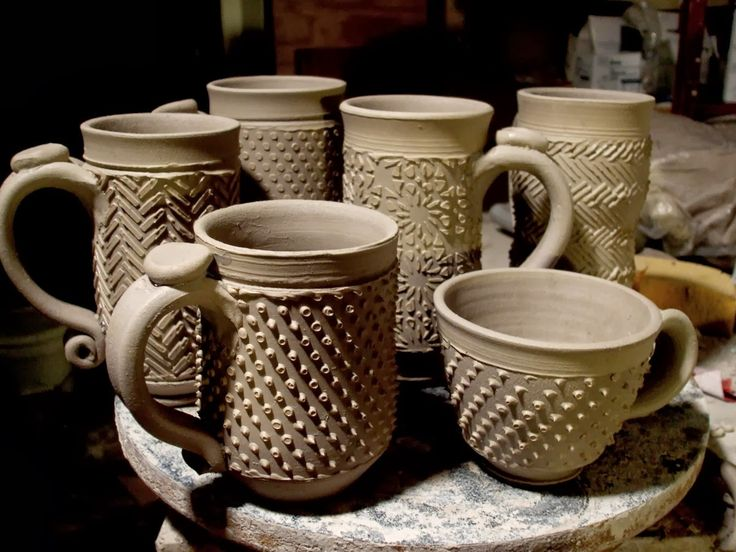 522 best images about cups mugs pottery ideas on for Clay mug ideas