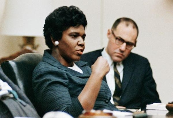 Barbara Jordan (1936 – 1996) was a leader of the Civil rights movement and later became the first Black woman elected to the United States House of Representatives. Among other notable achievements, Jordan introduced legislature to extend the state ratification deadline for the Equal Rights Amendment, and campaigned to include Native Americans, Latinos, and Asian-Americans when extending the Voting Rights Act of 1965, and supported the Community Reinvestment Act.