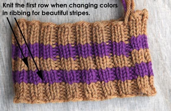 even better illustration of seamless color change for Ribbing Stripes (i.e., ...