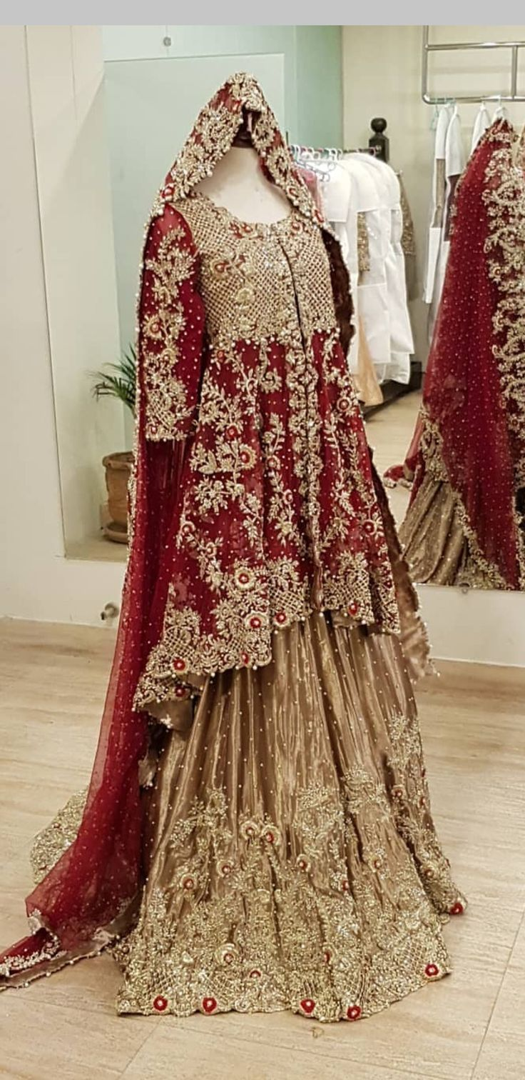 Red wedding traditional dress