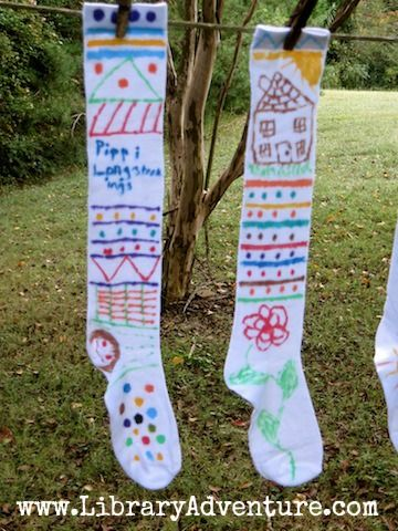 A Day With Pippi Longstocking -- create your own Pippi stockings!!