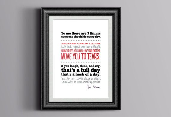 Jimmy V full day quote DIGITAL DOWNLOAD  by leftofcenterdesign