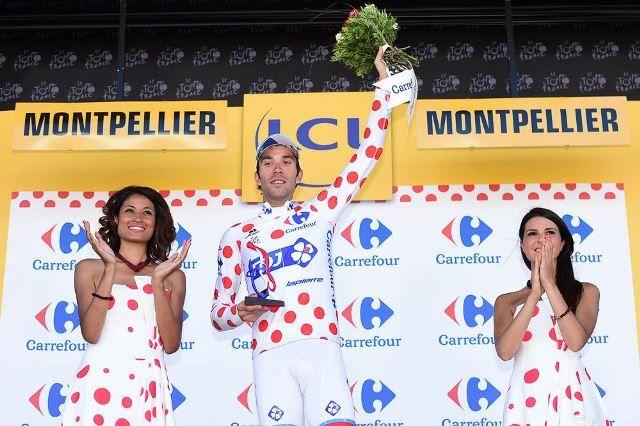 Тибо Пино сошёл с Тур де Франс-2016 из-за бронхита http://velolive.com/velo_race/tour/12558-thibaut-pinot-soshel-s-tour-de-france-2016-iz-za-bronhita.html  26-летний французский гонщик команды FDJ Тибо Пино (Thibaut Pinot) сошёл с Тур де Франс-2016 после 12-го этапа. Он удерживал лидерство в горной классификации с 9 по 11 этап. На 12-м этапе с финишем на Мон-Ванту Тибо Пино финишировал через 28 минут после победителя этапа Томаса Де Гендта (Lotto Soudal). Он не вышел на старт 13-го этапа.