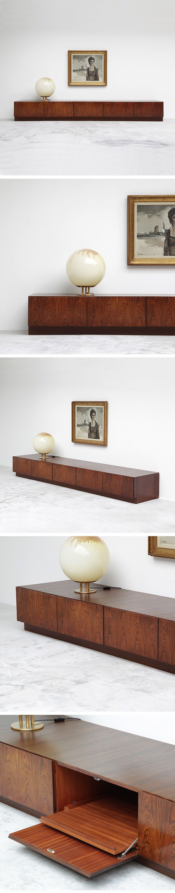 Love this lamp. Also, the V-form low credenza by Oswald Vermaercke.