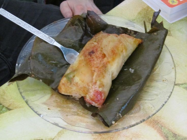 Nacatamales, are popular steamed corncakes from Nicaragua and Honduras. They are similar to Mexican tamales, but nacatamales are larger, filled with meat and vegetables and steamed in banana leaves. Nacatamales are special-occasion food and are most often served as a Sunday morning meal or at Christmas, weddings and other large celebrations. Makes 10 to 12 nacatamales Ingredients Masa (Dough)