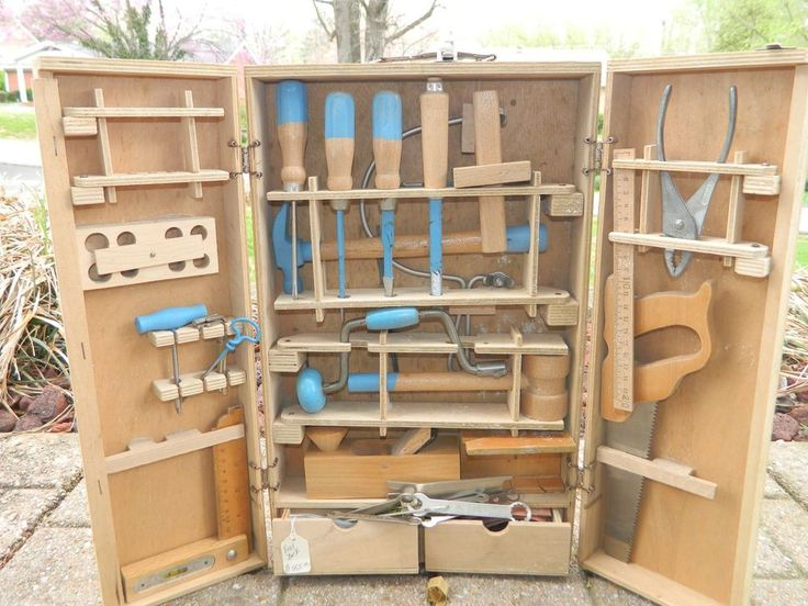 Vintage Toy Tool Box Play Set Billy Builder S By Nsi Made