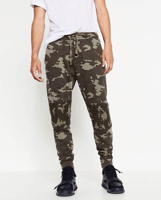 CAMOUFLAGE TROUSERS from Zara