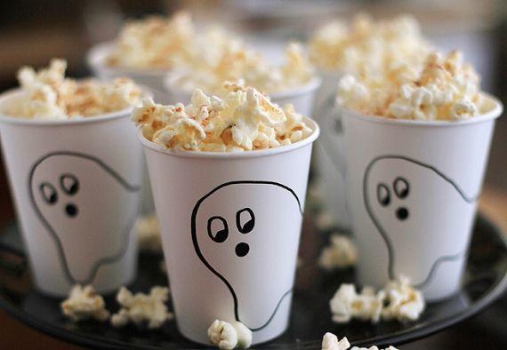 copo de pipoca para halloween