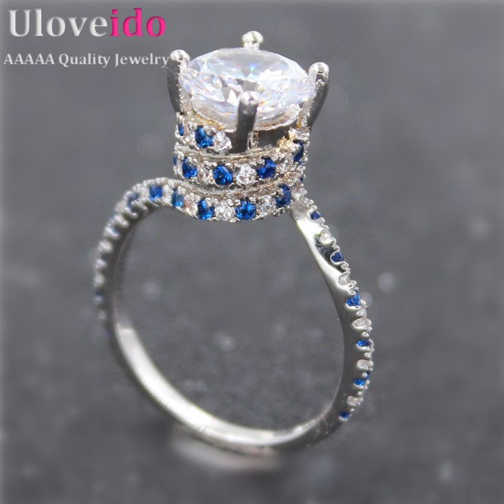Find More Rings Information about Uloveido Engagement Ring for Women Big Rhinestone Silver Plated Fashion Jewelry Rings 2016 Bague Blue Crystal Anillos Aneis Y191,High Quality ring broadsword,China ring wrapper Suppliers, Cheap ring bear from Uloveido Official Store on Aliexpress.com