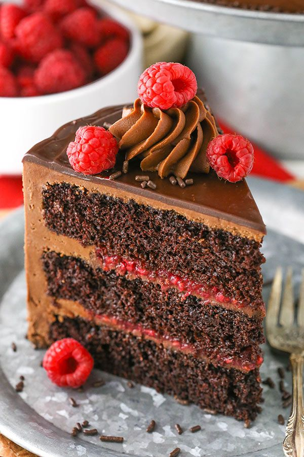 Raspberry Chocolate Layer Cake Recipe With Images Chocolate