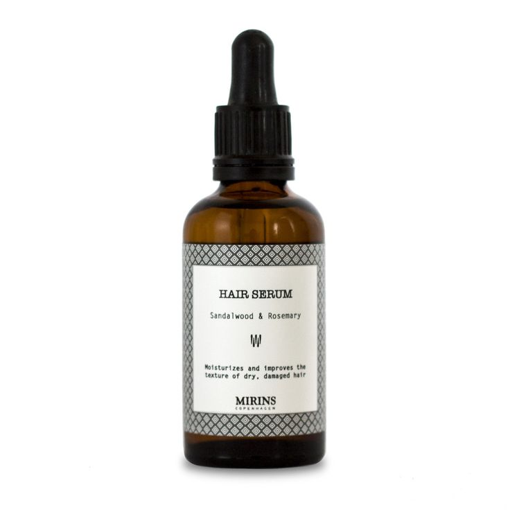 Hair Serum Sandalwood This hair serum moisturizes and improves the texture of dry, damaged hair.  Ingredients Jojoba Oil (Simmondsia chinensis) , Apricot Kernel Oil(Prunus dulcis); Essential Oil: Lavender (Lavandula angustifolia)  , Peppermint (Menta piperita), Rosemary (Rosmarinus officinalis), Grapefruit (Citrus paradisi).  Place a few drops of oil in your hand then gently massage into the scalp and hair.