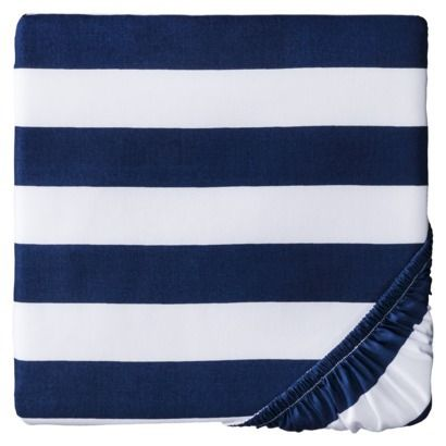 Circo® Rugby Stripe Woven Fitted Crib Sheet...Target for $9